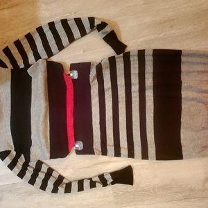 Ladies striped top and skirt